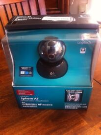 Logitech QuickCam Sphere AF, high quality webcam with motorised tracking. New in box