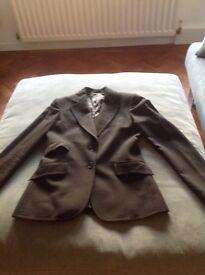Women's Jacket by Daks of London. Size 8 Black. 3 flap pockets. 100% wool. Fully lined 100% viscose.