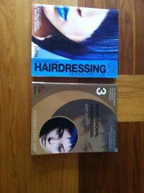 2 NVQ level 2-3 hairdressing books