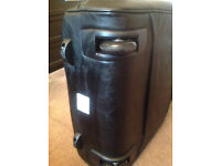 Black Travel Suitcase-KNOMO LONDON On Wheels