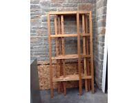 A Wooden Shelf Rack