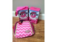 2 x Bubblebum inflatable car booster seats. Ideal for holiday travel.