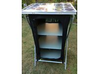 Outwell folding three shelve cupboard