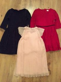 Beautiful party dress x3 age 9-10 year old - excellent condition.