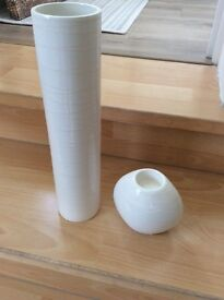 Vase and matching candle holder