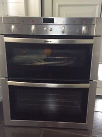 NEFF electic built in double oven
