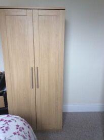 Loveley single wardrobe lime oak