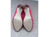 Pink Nine West high heel, Women's UK size 6