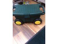 Fishing box with wheels