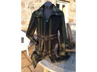 Green tartan ladies coat