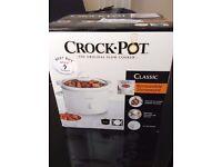 Crock-Pot 2.4L White Slow Cooker (Brand New)