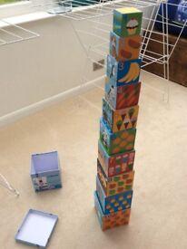 Jo jo maman Bebe stacking box toy