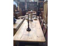 Reclaimed pine farmhouse table