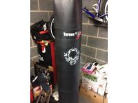 Heavy duty leather punch bag