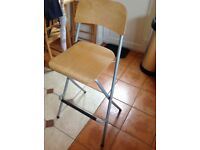High folding stool, suitable for breakfast bar.