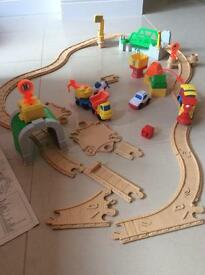 Fisher Price flip Road and Rail set