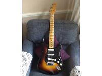 Fender Stratocaster, custom shop Ancho Poblano in two tone sunburst.