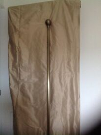 Curtains plus bronze pole