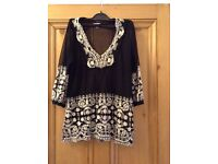 Black and White sheer patterened top from Zara, Size M.