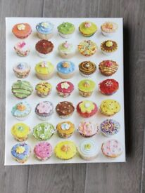 Cup Cakes wall canvas. Aspace. 50cms x 40cms Very good condition