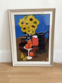 Original Painting - Still Life of Sunflowers and Oranges
