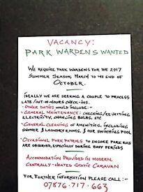 Park warden for 2017 summer season