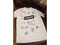signed rangers shirt