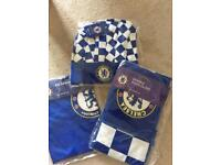 Chelsea oven gloves, apron and chefs hat