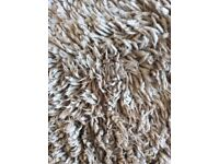 NEXT Long Pile Rug 200 x 140mm. Colour Mink. Ideal for Lounge or Bedroom.