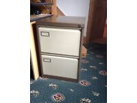 Roneo Vickers metal 2 drawer filing cabinet