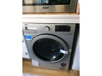 Beko silver washer dryer new no package 12 mths gtee