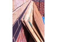 Plywood and 4x2 timber