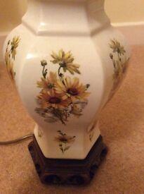 Antique flower print lamps