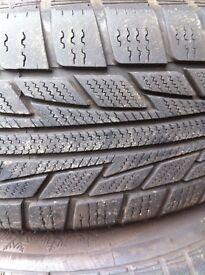 snow tyres + wheels x 4