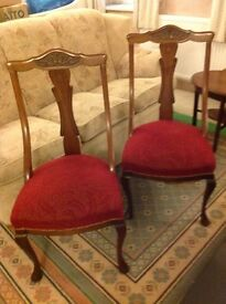 2 Antique chairs.