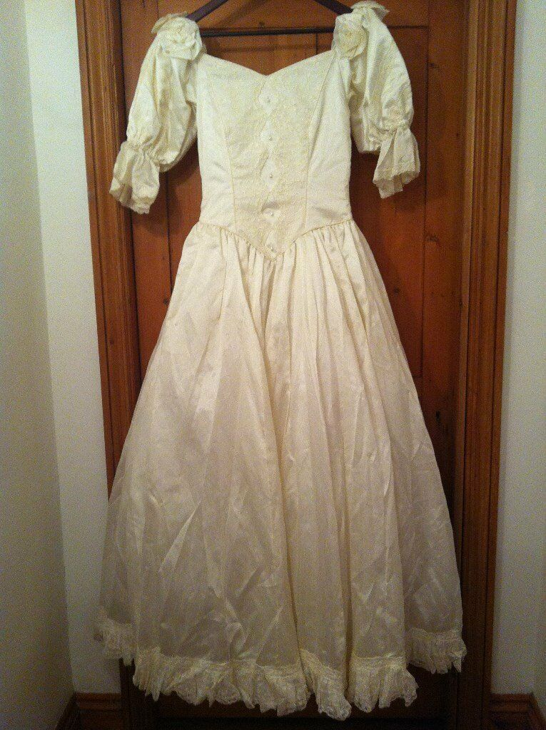 Silk Ivory Wedding Dress size 10