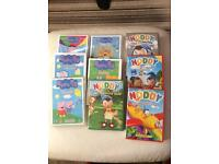 Set of 9 children's dvds inc peppy pig and noddy