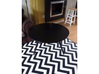Next black and white large rug, lovely condition £25.00, Also coffee table £10.00