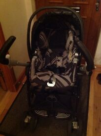 Mamas and papas travel system, Pliko switch pushchair, viaggio baby car seat and isofix base
