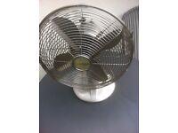 Chrome electric fan