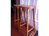2 Kitchen Bar Stools Tall Chairs in Need of Attention / Can Deliver