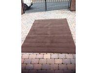 Large chocolate brown mat