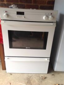 Neff white oven with grill