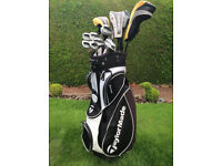 Complete Set Of TaylorMade Golf Clubs And Bag
