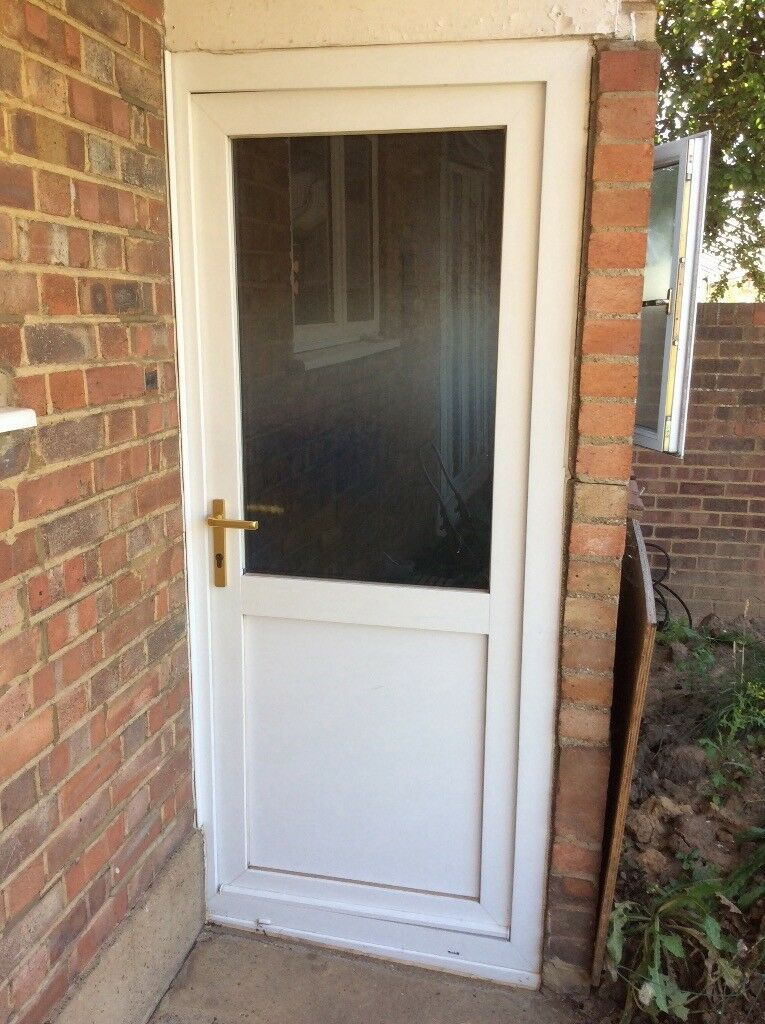 External Upvc Double Glazed Door With Frosted Glass