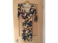 Ladies wrap over dress (can be tied at the side or back) Size 6 Miss Selfridge