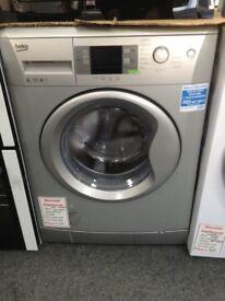Beko 8kg 1200 spin. RRP £289 A +++ silver washing machine. 12 month Gtee .