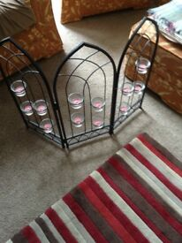 Fire screen complete with candles never used