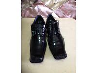 Black crocodile shoes size 44