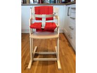 Wooden High Chair - hardly used, excellent condition